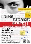 """Mobilisierungsplakat """"Freiheit-statt-Angst""""-Demo"""
