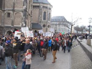 Demo-Zug am Münster