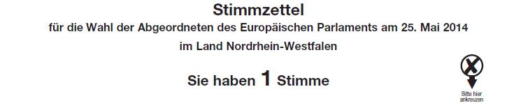 Europawahl Stimmzettel Top