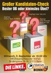 Plakat zu OB-Wahl 2015