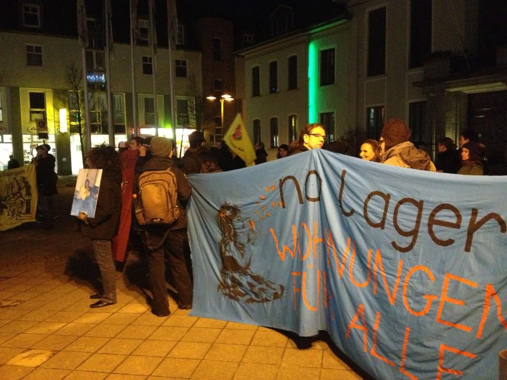 Flüchtlingsdemo in Heiligenhaus.