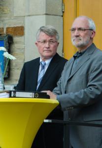 Die aktuelle Bürgermeister Birkenkamp und sein Herausforderer Woywod.