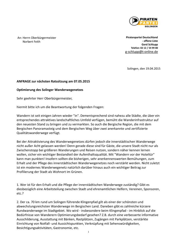Anfrage - Optimierung des Solinger Wanderwegenetzes-1